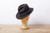 Dark Brown Furfelt Crushable Fedora Hat with Stretch Sweatband and without Lining by Tonak