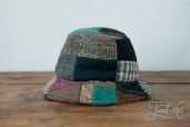 Patchwork Tweed Wee Thatch Hat by Hanna Hats