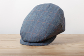 Blue Herringbone Silk Cap 1955 by City Sport