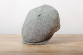 Grey Herringbone Linen 6-piece Cap 1973 by City Sport