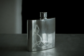 Small Hip 4oz Pewter Flask with Celtic Pattern by Mullingar Pewter