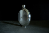 Round 6oz Pewter Flask by Mullingar Pewter