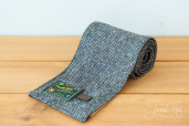 Grey Tweed Scarf by Hanna Hats