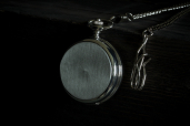 Pocket Mechanical Watch with Chain and Matt Finishing by Mullingar Pewter