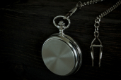 Pocket Mechanical Watch with Chain and Polished Finishing by Mullingar Pewter