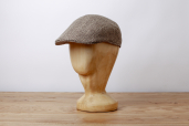 Beige Herringbone Silk and Wool Stetson Michigan/Madison Cap