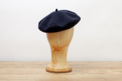 Navy Wool/Cashmere Basque Beret by Barascon