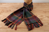 Green-bordeaux Plaid Lambswool Scarf Kerry Woolen Mills