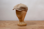 Beige Corduroy Woods 8-piece Cap by Hanna Hats