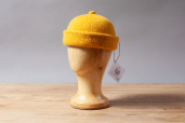 Yello Monmouth Cap by Ye Olde Cappe