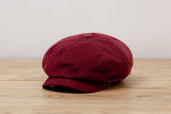 Wine Corduroy Woods 8-piece Cap by Hanna Hats