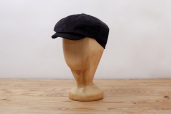 Black Corduroy Woods 8-piece Cap by Hanna Hats