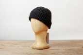 Charcoal Handknit Merino Wool Beanie Cap by Magee 1866