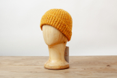 Yellow Handknit Merino Wool Beanie Cap by Magee 1866
