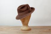 Brown Felt Medium Brim Fedora Hat by Stetson