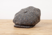 Grey Herringbone Donegal Tweed 8-piece Cap 1920 by City Sport