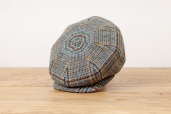 Grey Plaid Harris Tweed 8-piece Cap 1931 by City Sport