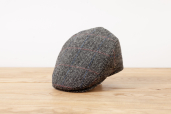Grey Plaid Herringbone Harris Tweed Cap 1960 by City Sport