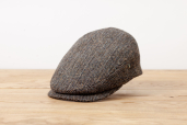 Warm Grey Herringbone Harris Tweed Cap 1955 by City Sport