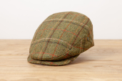 Green Plaid British Tweed Cap 1955 by City Sport