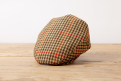 Mustard Plaid British Tweed Cap 1959 by City Sport