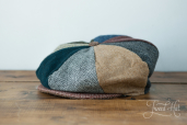 Patchwork Tweed 8-piece Cap by Hanna Hats