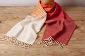 Tiger Lily Ombre Lambswool Scarf by McNutt of Donegal