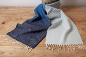Denim Ombre Lambswool Scarf by McNutt of Donegal