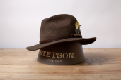 Dark Olive Felt Fedora Traveller Hat by Stetson