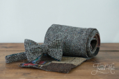 Patch-Grey Tweed Scarf by Hanna Hats