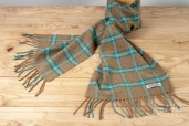 Dried Herb Plaid Lambswool Scarf by Foxford Woollen Mills