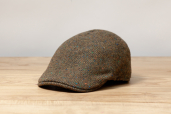 Green Brown Herringbone Magee Tweed Erin 6-piece Cap by Hanna Hats