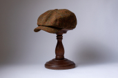 Autumn Kells Harris Tweed 8-piece Cap by Hanna Hats