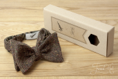 Brown Tweed Bowtie Garin X Tweed Hat