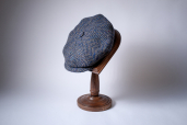 Brown-Navy Herringbone Donegal Tweed 8-piece Cap 1920 by City Sport