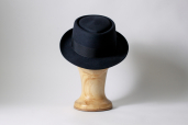 Grey Furfelt Pork Pie Hat with Stretch Sweatband and without Lining by Tonak