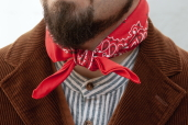 Red Cotton Bandana with Traditional Paisley Pattern Hav-a-Hank by The Bandanna Company (made in USA)