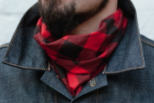 Red/Black Buffalo Plaid Cotton Bandana Hav-a-Hank by The Bandanna Company (made in USA)