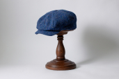 Azure Woods Herringbone Tweed 8-piece Cap by Hanna Hats