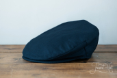 Blue Linen Vintage Cap by Hanna Hats