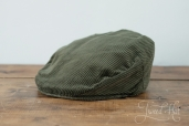 Green Corduroy Vintage Cap by Hanna Hats