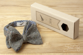 Grey Tweed Bowtie by Garin X Tweed Hat