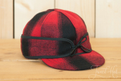 Red-Black Stormy Kromer Mackinaw Cap