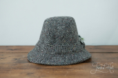 Grey Tweed Country Hat by Hanna Hats