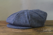 Blue Tweed 8-piece Cap with Band by Hanna Hats