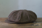 Brown Tweed 8-piece Cap with Band by Hanna Hats