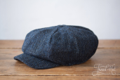 Blue Tweed Kells 8-piece Cap by Hanna Hats