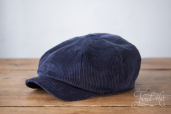 Blue Corduroy Kells 8-piece Cap by Hanna Hats