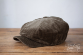 Green Corduroy Kells 8-piece Cap by Hanna Hats