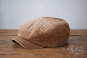 Light Corduroy Kells 8-piece Cap by Hanna Hats